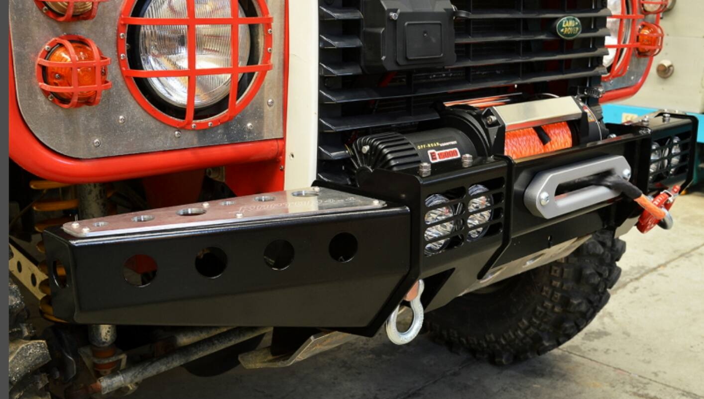 Raptor 4x4 Front Squared Winch Bumper With Winch Land