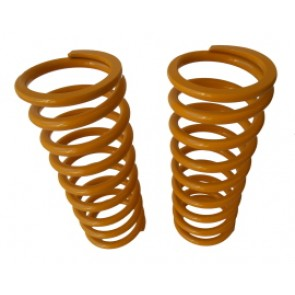 Raptor 4x4 Off Road Pair Of Rear Springs +5 Cm Yellow For For Land Rover Defender 110