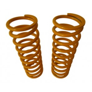 Raptor 4x4 Off Road Pair Of Rear Springs +10 Cm Yellow For For Land Rover Defender / Discovery I - II / Range Rover Classic