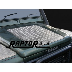 Raptor 4x4 Land Rover Defender Chequer plate Bonnet Protector