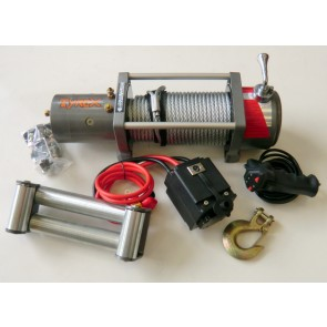 Tyrex 4x4 Off Road High Speed Winch 12v 6.6hp 10000LB Line Pull  Silver