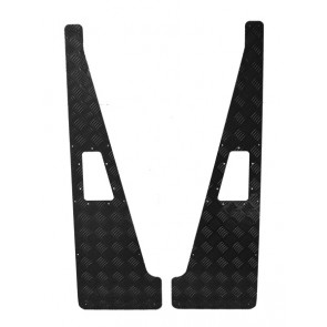 Raptor 4x4 Land Rover Defender Wing Top Chequer Plate Protectors