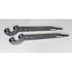 Raptor 4x4 Off Road Pair Of HD Front Radius Arms Correction 4° Up To 200tdi Land Rover Defender, Discovery