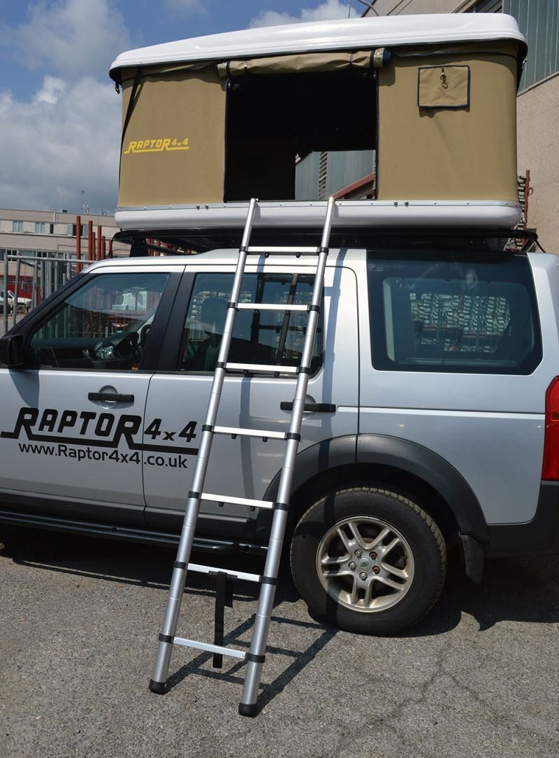 Raptor 4x4 Premium Hard Shell XL Roof Tent Land Rover Discovery 3 & Raptor 4x4 Premium Hard Shell XL Roof Tent
