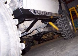 Raptor 4x4 Off Road Durable Steel Chequered Plate Rock Slider Protection Toyota KZJ70 / LJ70