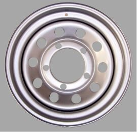 Tyrex Modular Steel Wheel 7x16 + 8 Silver for Land Rover Defender, Discovery I, Range Rover Classic