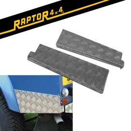 Raptor 4x4 Defender 110 Chequer Plate Rear Corner Protectors
