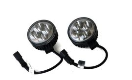 Raptor 4x4 Pair of Round LED Spot Lights