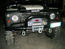 Raptor 4x4 Off Road Tubular Winch Bumper Type E With A-Bar Land Rover Defender