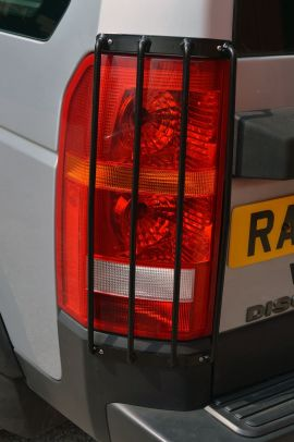 Raptor 4x4 Rear Contoured Light Lamp Guards Pair Land Rover Discovery 3