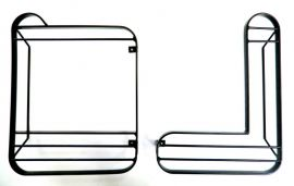 Raptor 4x4 Off Road Rear Squared Hinged Lamp Guards Land Rover Defender