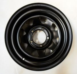 Tyrex 4x4 Off Road Steel Black Wheel ET -20mm Offset 7x16 Suzuki Samurai Jimny Vitara
