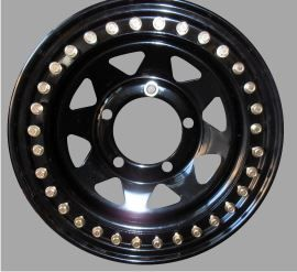 Tyrex Beadlock Wheel 7x16 Offset +8 Black Land Rover Defender