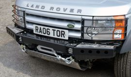 Raptor 4x4 Front Modular Winch Bumper With Steering Guard Land Rover Discovery 3