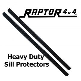 Raptor 4x4 Defender 110 Chequer Plate Sill Protector Black