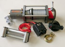 Tyrex 4x4 Off Road High Speed Winch 12v 6hp + 6hp Double Speed 9000LB Line Pull  Silver 2 Speed