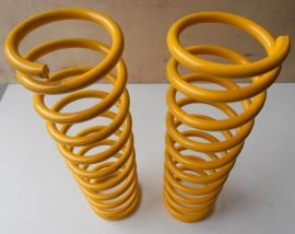 Raptor 4x4 Off Road Pair Of Front Springs +5 Cm Yellow For Toyota LJ Round Lamp