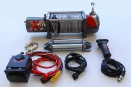 Tyrex 4x4 Off Road Winch Kit 12000 Silver Edition 12000 lb Line Pull 12v 6hp Motor