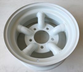 Raptor 4x4 Tyrex Heavy Duty Land Rover Steel Wheels 7 X 16  -25 Offset x 4 White