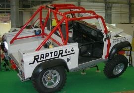 Raptor 4x4 Off Road External Roll Cage Special Edition Land Rover Defender 90 Pick Up