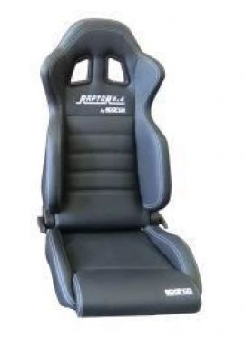 Raptor 4x4 By Sparco Sport Seats Pair Black Faux Leather
