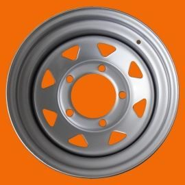 Tyrex Hd Steel Wheel Et -10 6.5x15 Silver For Suzuki Samurai