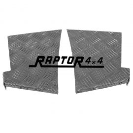 Raptor 4x4 Defender 90 Rear Corner Chequer Plate Protectors