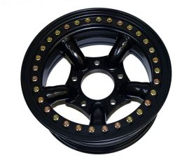 Raptor 4x4 Beadlock Wheel 5 Spokes 7x16 -25 Offset Black