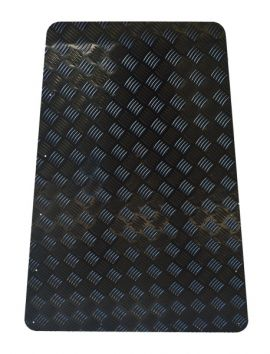 Land Rover Defender Bonnet Chequer Plate 3mm Black