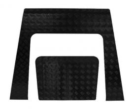 Land Rover Defender TD4 Puma Bonnet Chequer Plate Black
