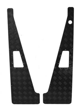 Land Rover Defender 3mm Wing Top Chequer Plate With Aerial Hole - Black