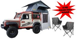 Premium Soft Top Roof Tent With Annex Includes 2 FREE Crusader Chairs