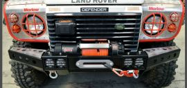 Raptor 4x4 Front Squared Winch Bumper With LED's Land Rover Defender 90 110 130