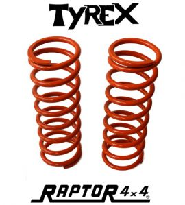 Raptor 4x4 Pair of Rear HD Springs Extra 5cm Land Rover Defender