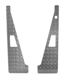 Raptor 4x4 Wing Top Aluminium Chequer Plate With Aerial Hole Land Rover Defender