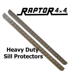 Raptor 4x4 Defender 90 Chequer Plate Sill Protector