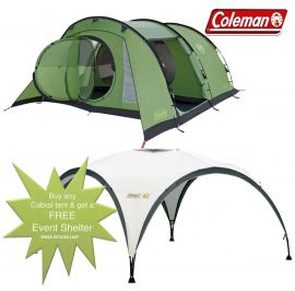 Coleman Cabral 5 Man Camping Tent + FREE Event Shelter 10 x 10ft - Small Image