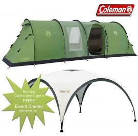 Coleman Cabral 6 Man Camping Tent + FREE Event Shelter 10 x 10ft - Small Image