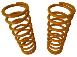 Raptor 4x4 Off Road Pair Of Front Springs +5 Cm Yellow For Land Rover Defender