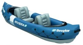 Sevylor Riviera 2 Person Kayak Inflatable Canoe Dinghy Boat Raft Sailing - Small Image