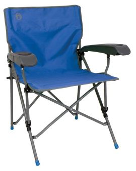 Coleman Ver-Tech Chair Camping Fishing Folding Cup Holder Festival Steel + Bag - Small Image