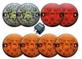 Land Rover Defender WIPAC LED LSL Coloured Lamp Complete Upgrade Kit 73mm