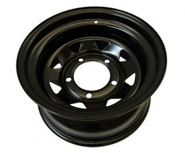 HD Tyrex Black Steel Wheels 8X16 ET -20 For Landrover Off Roading Car Parts