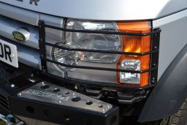 Raptor 4x4 Front Contoured Light Lamp Guards Pair Land Rover Discovery 3