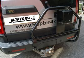 Raptor 4x4 Heavy Duty Rear Spare Wheel Carrier Land Rover Discovery 3