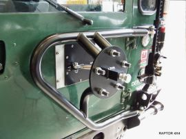 Raptor 4x4 Off Road Wheel Carrier Type A for Land Rover Defender 90/110/130 from 2002
