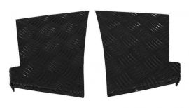 Land Rover Defender 90 Rear Corner Chequer Plate Protectors 3mm Black