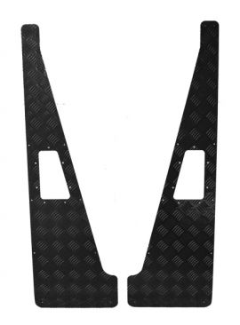 Land Rover Defender 2mm Wing Top Chequer Plate - Black