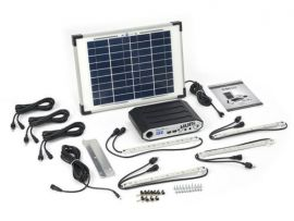 SolarHub 64 Lighting and Power Kit Solar Panel LED