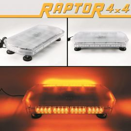 Raptor 4x4 Amber Recovery Light Bar 40 LED 40w Flash Strobe Magnetic
